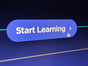 """""""Start Learning"""" button from School of Motion with hand cursor hovering over it."""