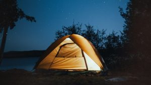 photo of tent at near trees