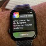 Creative Cloud render queue notification on an Apple Watch